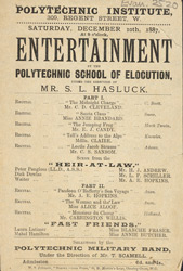 Advert for the Polytechnic School of Elocution